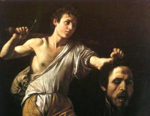 david met hoofd van goliath