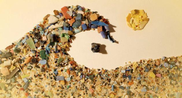Macro- en microplastics, 'The Microbead wave' hier gevonden