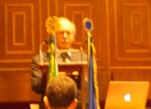 Gerard t'Hooft in de Aula Magna